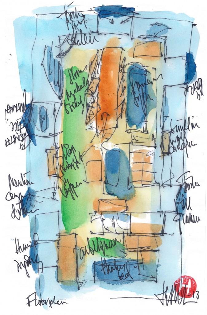 Floor Plan Poetry And Artwork Henry Denander